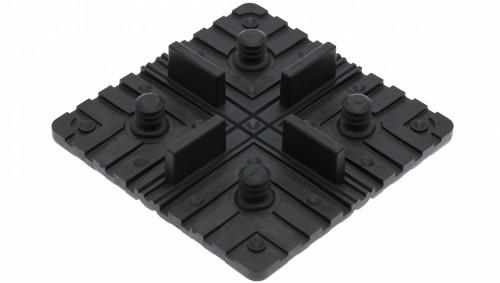 Carré de fixation pour dalles en bois massif (Seau de 40 carrés)