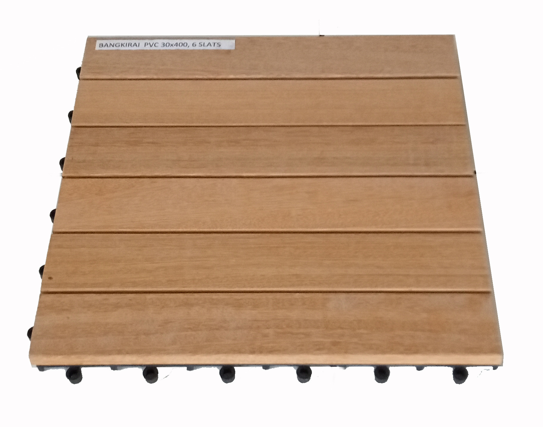 Dalles de terrasse en bois: Bangkirai clipsable 6 lattes --- DISPONIBLES FIN SEPTEMBRE