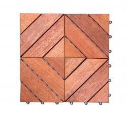 [DÉSTOCKAGE] Dalles de terrasse en bois: Merbau clipsable modèle Losange