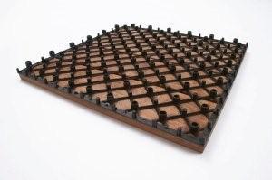 Dalles de terrasse en bois: Bangkirai clipsable modèle «cible»
