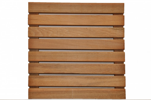 Dalles de terrasse en bois: Bangkirai massif lisse 30 x 400 x 400mm - A vernir
