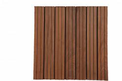 Dalles de terrasse en bois: Ipé massif 38 x 500 x 500mm -----arrivage courant novembre 2020