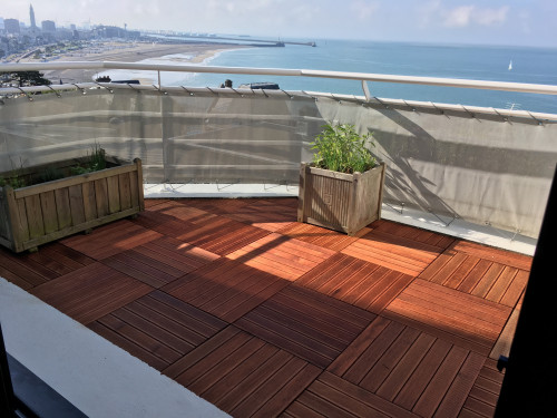 Dalles de terrasse en bois: Merbau massif 1er choix 30 x 500 x 500mm --- DISPONIBLES EN OCTOBRE 2020