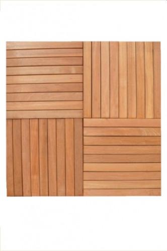 Dalles Bangkirai - Massives - Lisses - 40 x 40 x 3 cm
