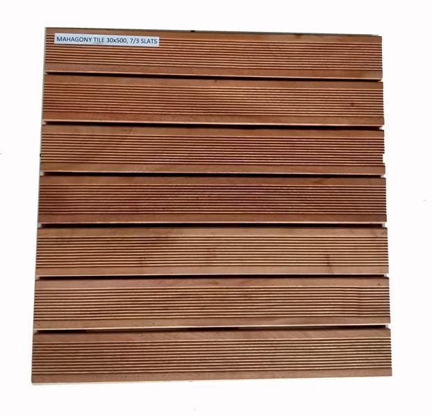 Dalles Acajou - Massives - 50 x 50 x 3 cm
