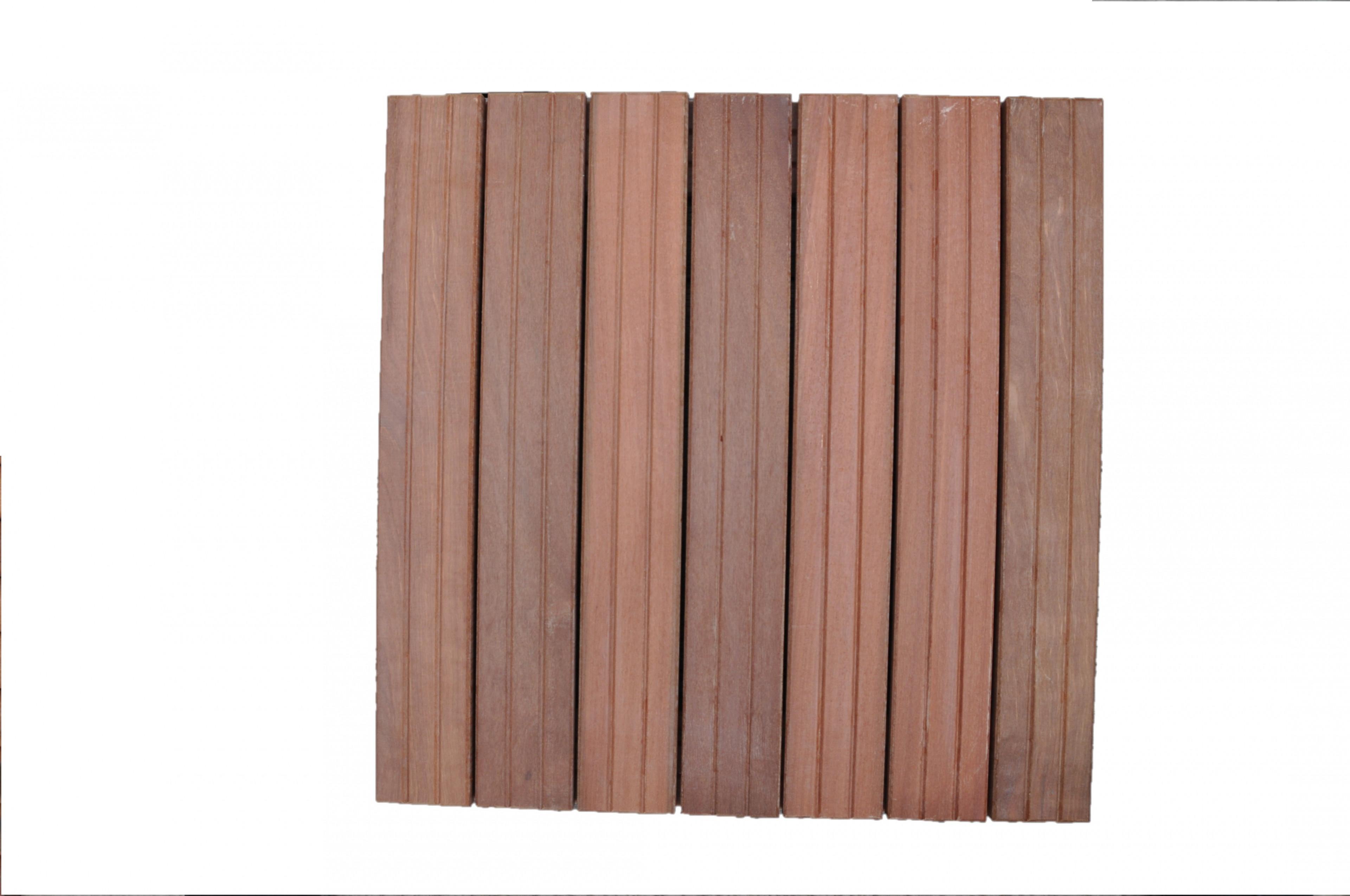Dalles de terrasse en bois: Maçaranduba massif 38 x 500 x 500mm