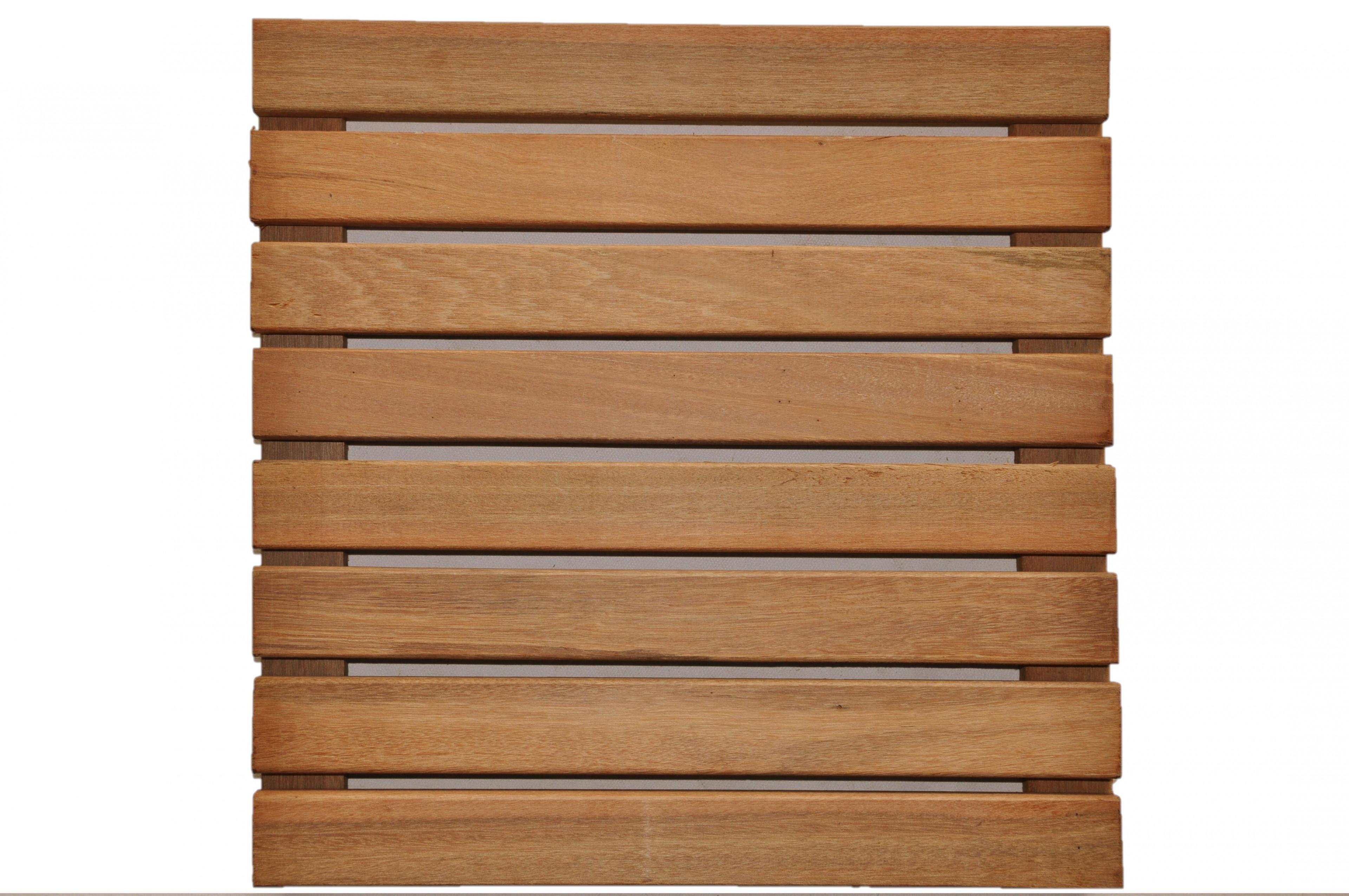 Dalles de terrasse en bois: Bangkirai massif lisse 30 x 400 x 400mm à vernir