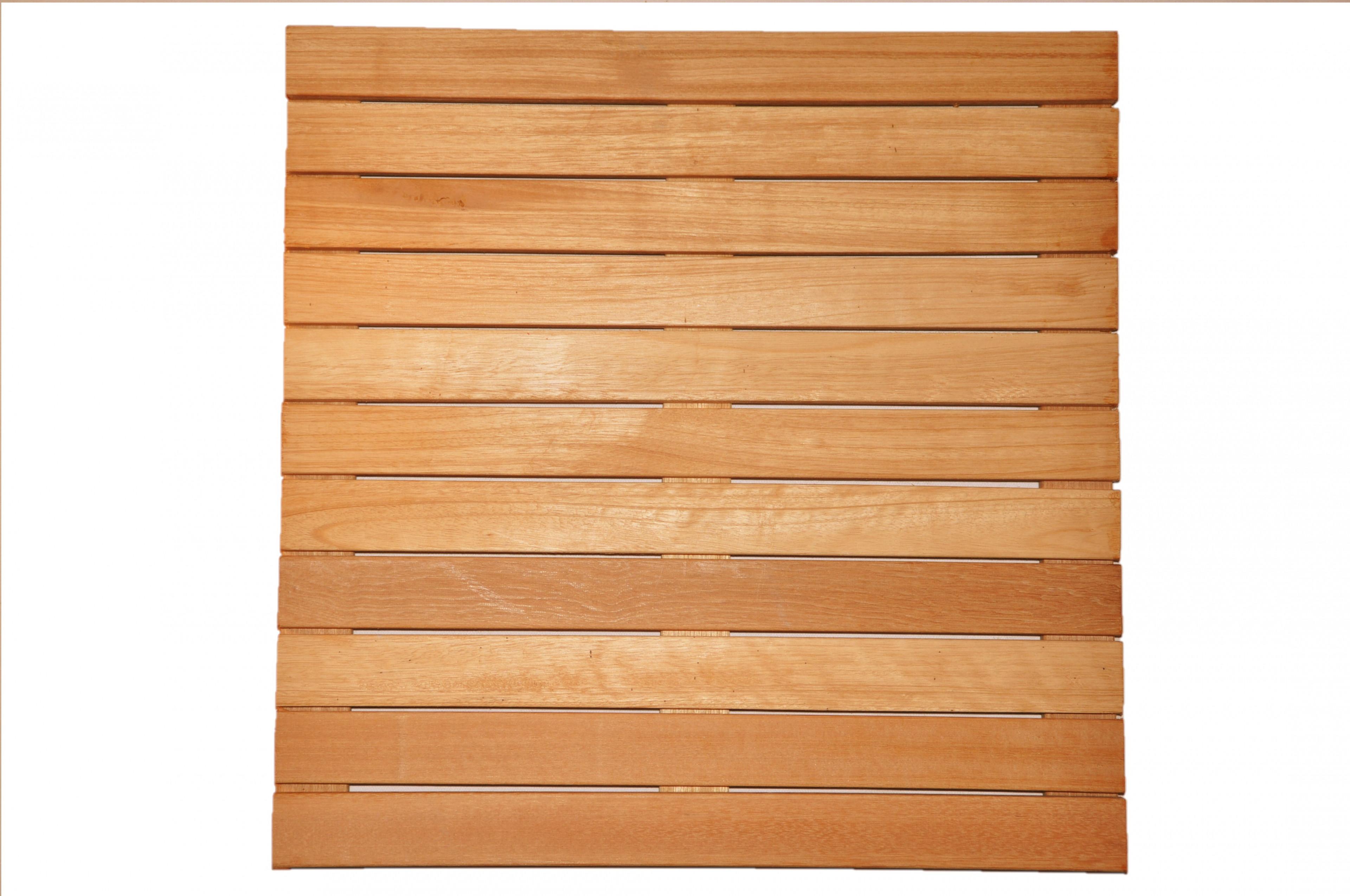 Dalles de terrasse en bois: Bangkirai massif lisse 30 x 500 x 500mm - 11 lattes