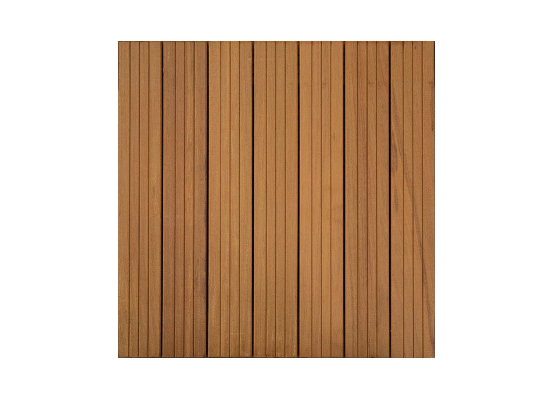 Dalles de terrasse en bois: Ipé massif 38 x 500 x 500mm
