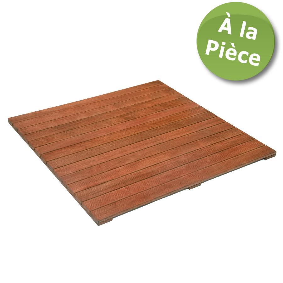 Dalles de terrasse en bois 1m x 1m: Merbau massif 1er choix