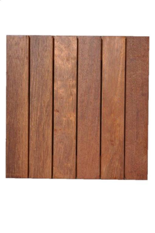 Dalles de terrasse en bois: Merbau massif lisse 30 x 400 x 400 mm