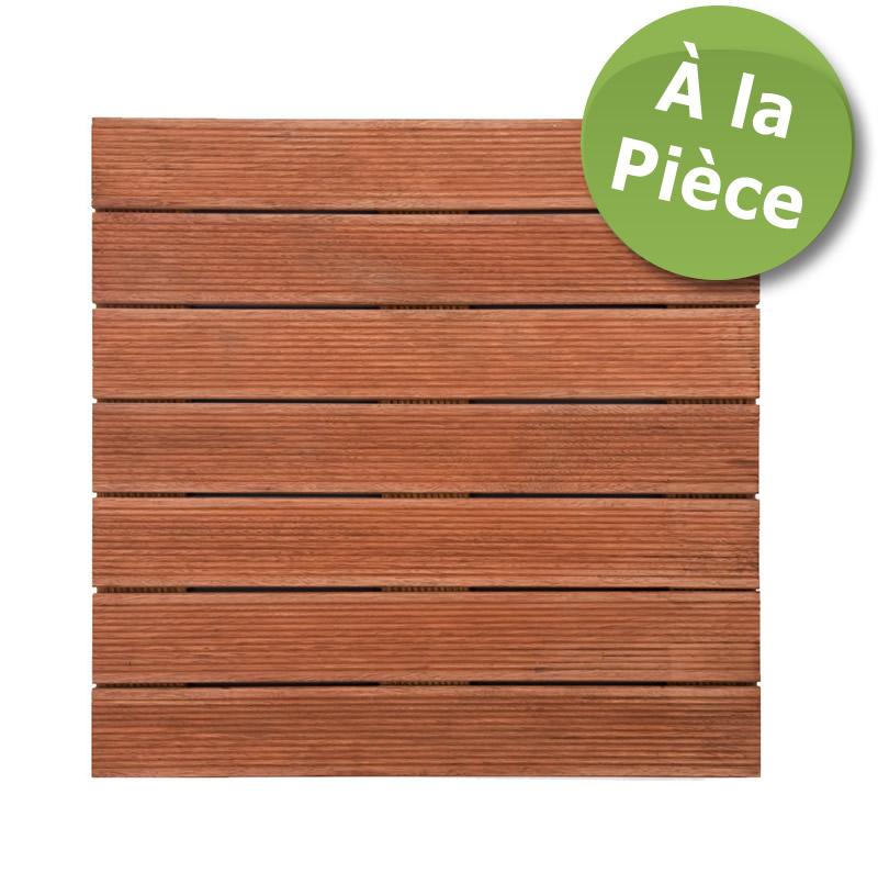 Dalles de terrasse en bois: Merbau massif 1er choix 30 x 500 x 500mm