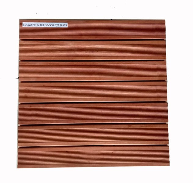 Dalles Eucalyptus - Massives - 50 x 50 x 3 cm