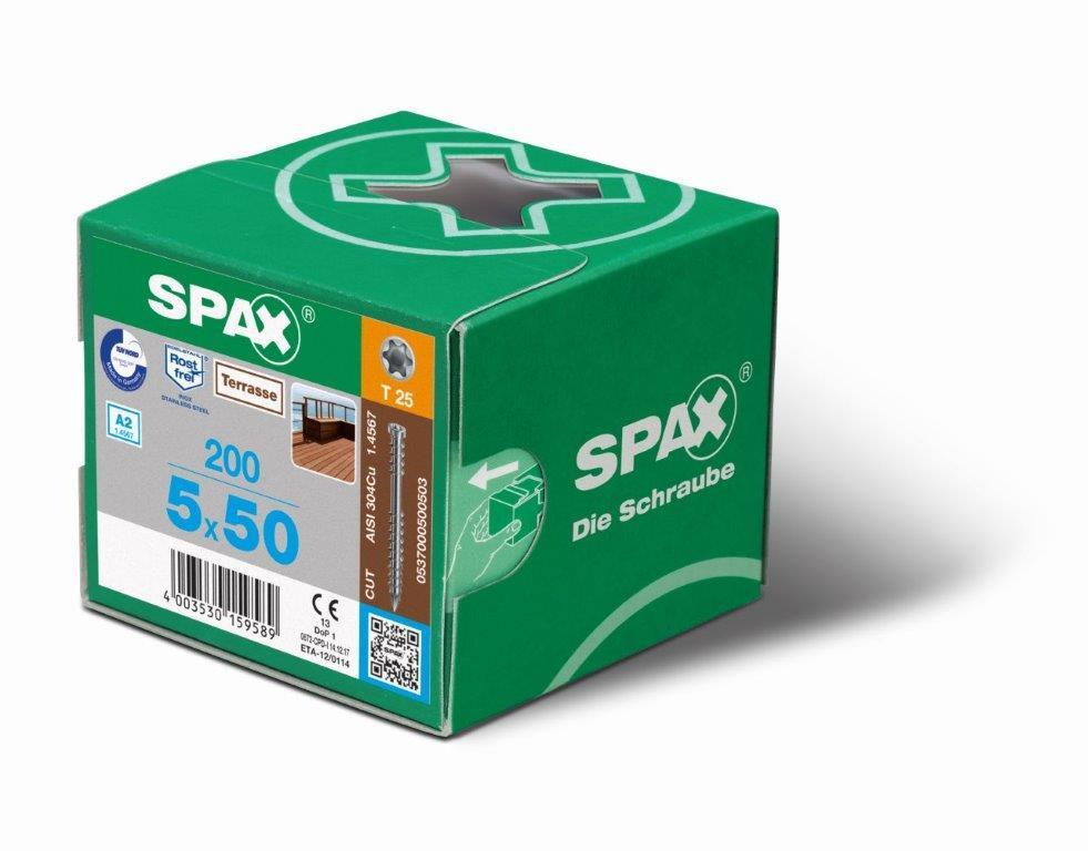 Boîte de Vis SPAX - 200 unités
