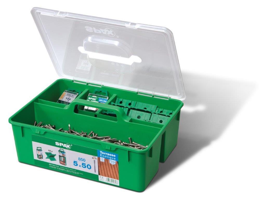 Boîte de Vis SPAX - 850 unités