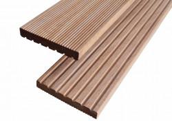 Lot de 24m2 de lames de terrasse Bangkirai 21mm x 145 mm premier choix, profil reversible rainuré